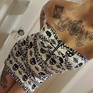 tube mini dress with SKULLS!